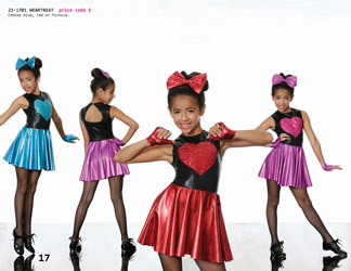 Treat your tiny dancer to this precious one piece dance costume