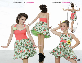 6c8c237eaff4 ... Spring summer petticoat floral 1950 s watermelon print dance recital  competition costume